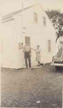 John and Lizzie at the family cottage in 1944